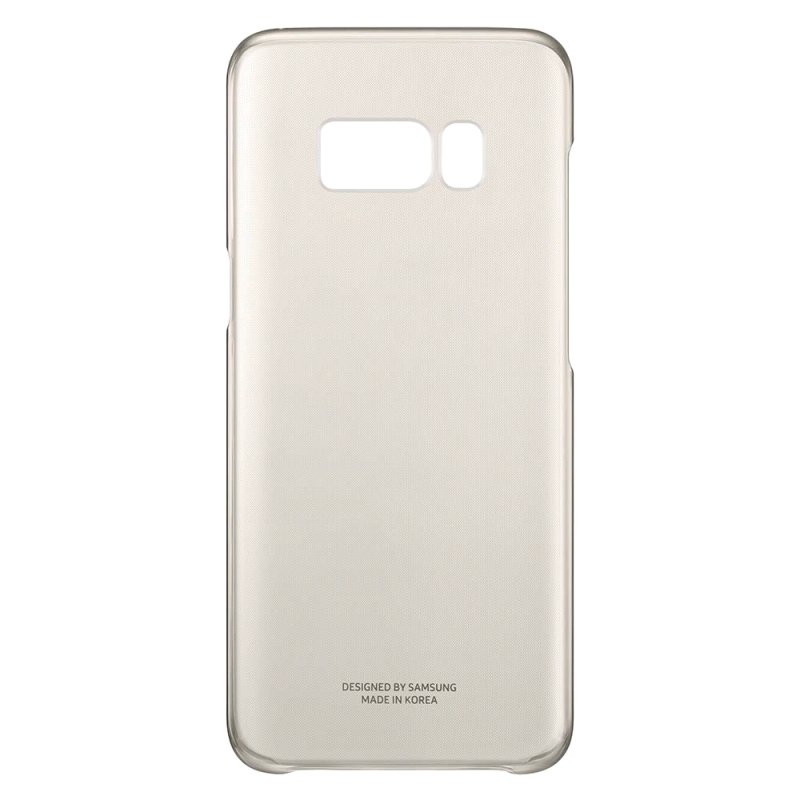 Samsung S8 Clear Cover - Gold
