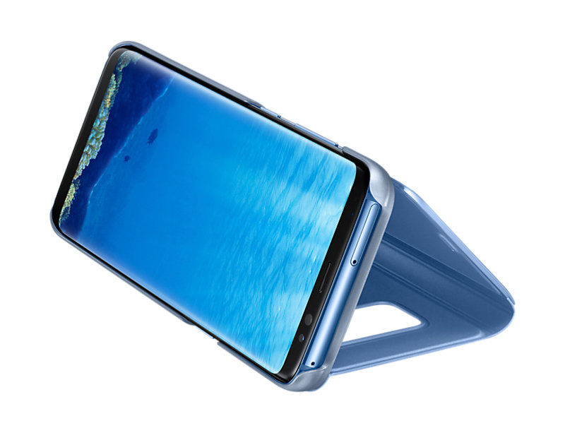 Samsung S8 Clear View Stand Cover Blue