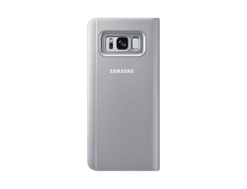 Samsung S8 Clear View Stand Cover Silver