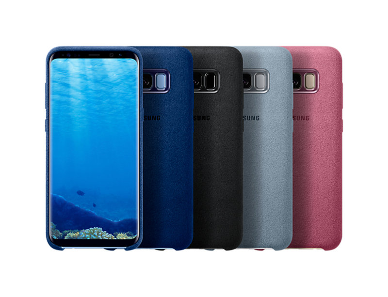 Samsung S8+ Alcantara Back Cover Pink