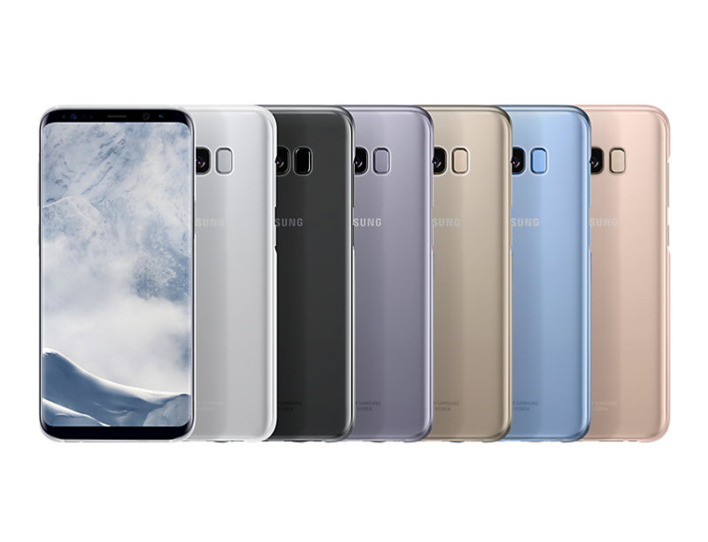 Samsung S8+ Clear Cover Violet
