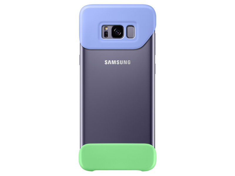 Galaxy S8+ Two Piece Cover, Violet/Green