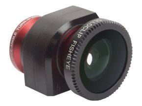 Olloclip lens system for iPhone 5  Fisheye  Wide-Angle  Macro - Red lens with Black Clip - Multi Lingual Packaging (Apple Only)