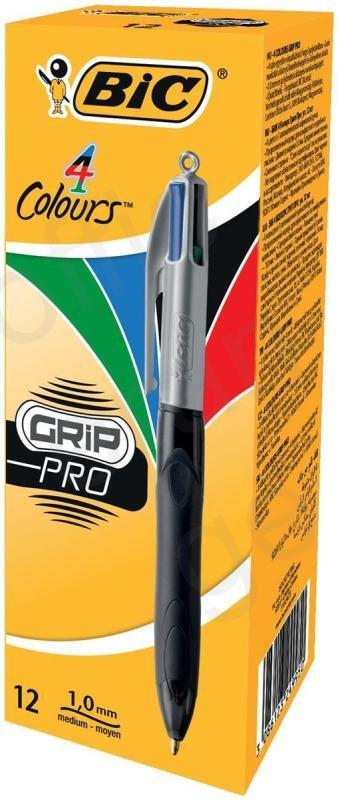 Image of Bic 4 Colour Grip Pro Ballpoint Pen
