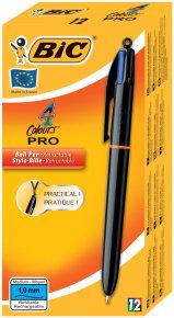 Bic Pro 4 Colours Pro Ballpoint Pen - 12 Pack