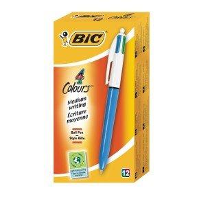 Bic 4 Colour Ballpoint Pen - 12 Pack