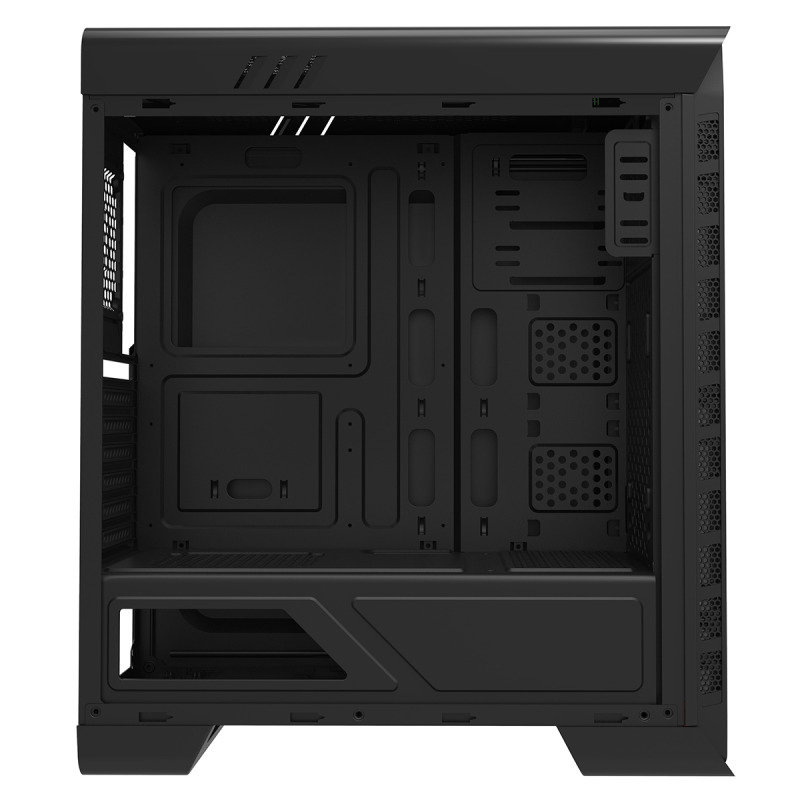 Elysium Black Gaming Case With 2 x 15 Blue LED Front Fans Side Window