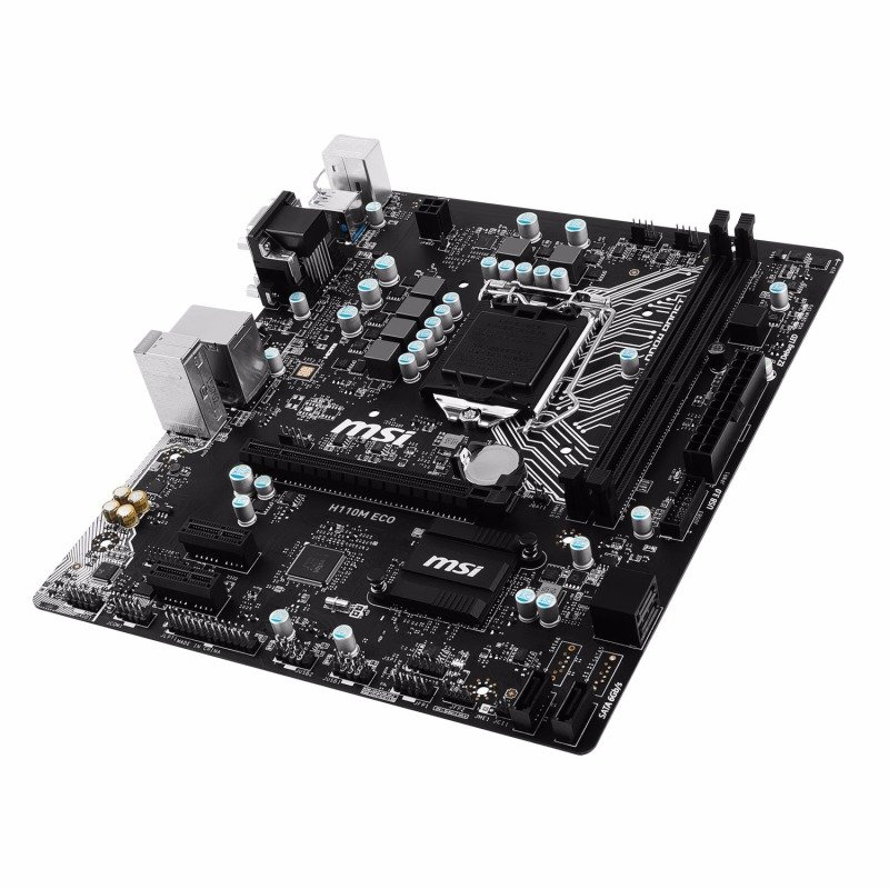 MSI Intel H110M ECO Micro ATX Motherboard with USB 3.0