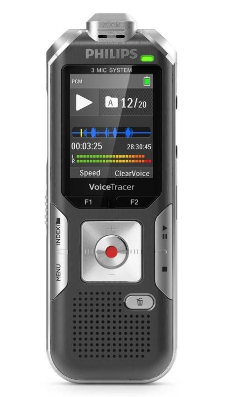 Philips DVT6010 Digital Voice Tracer with 3Mic AutoZoom+
