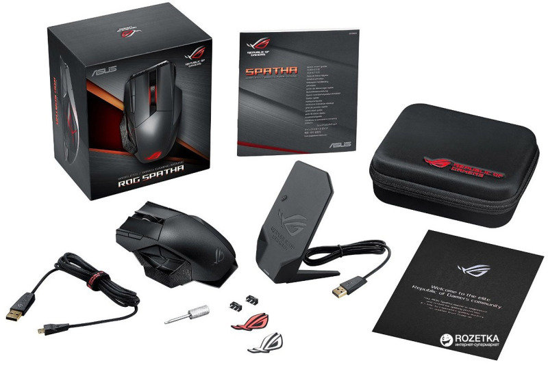 ee27943e359 ASUS ROG Spatha Wireless MMO Gaming Mouse - Gaming Mice at Ebuyer