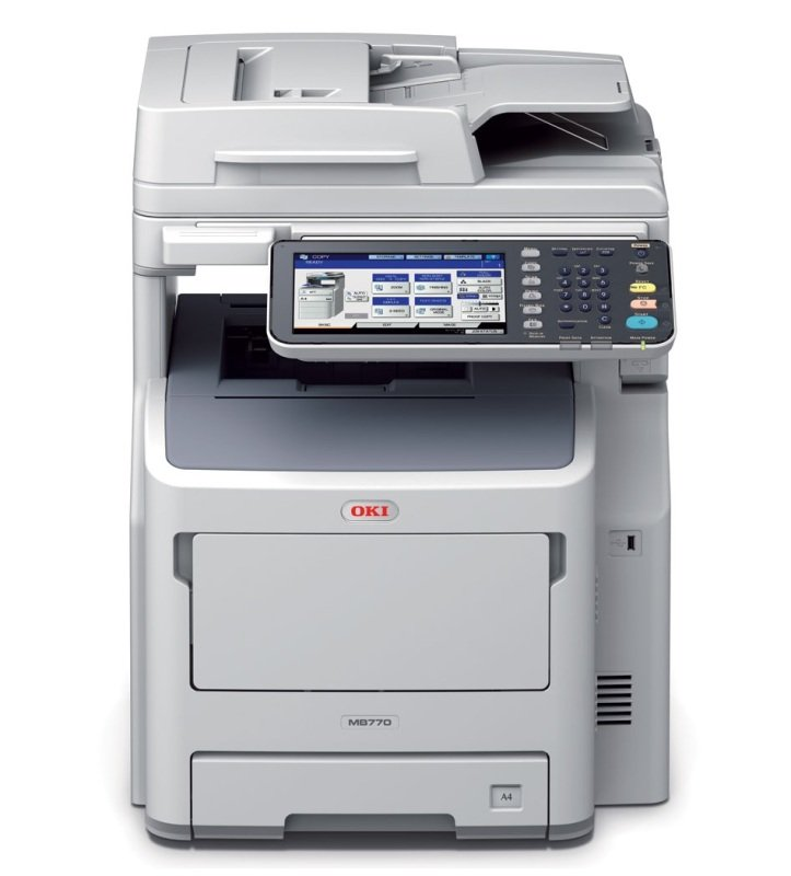 OKI MB770dnfax A4 Mono Multifunction Laser Printer