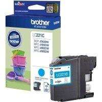 Brother Standard Yield Cyan Ink Cartridge LC221C