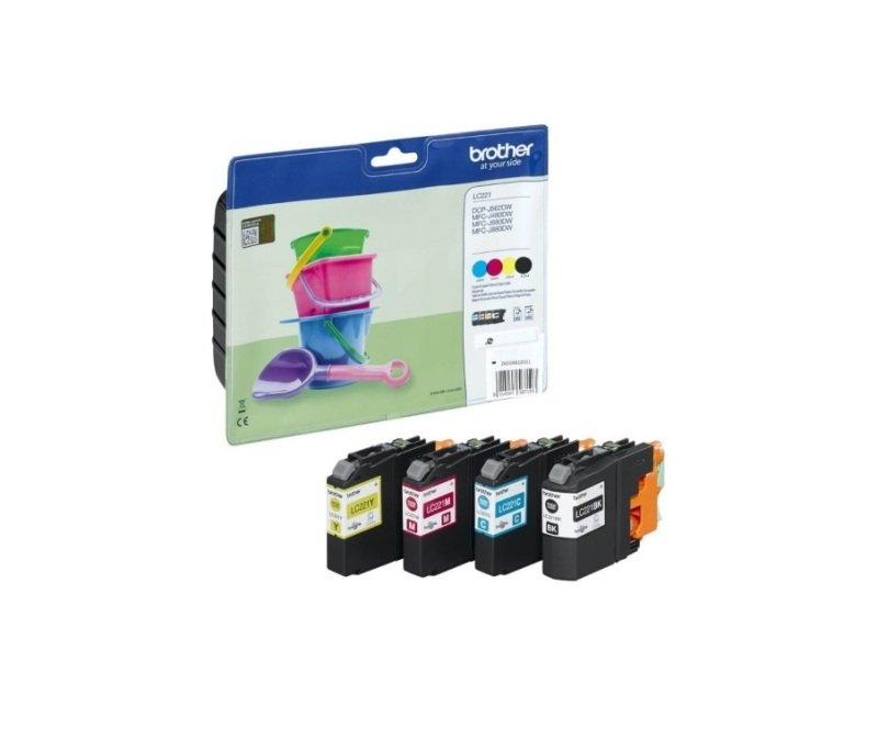 Brother LC221 Value Pack Inkjet Cartridges (C/M/Y/K)