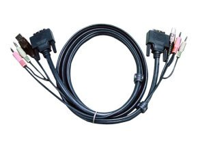 USB DVI-D Dual Link KVM Cable 3M