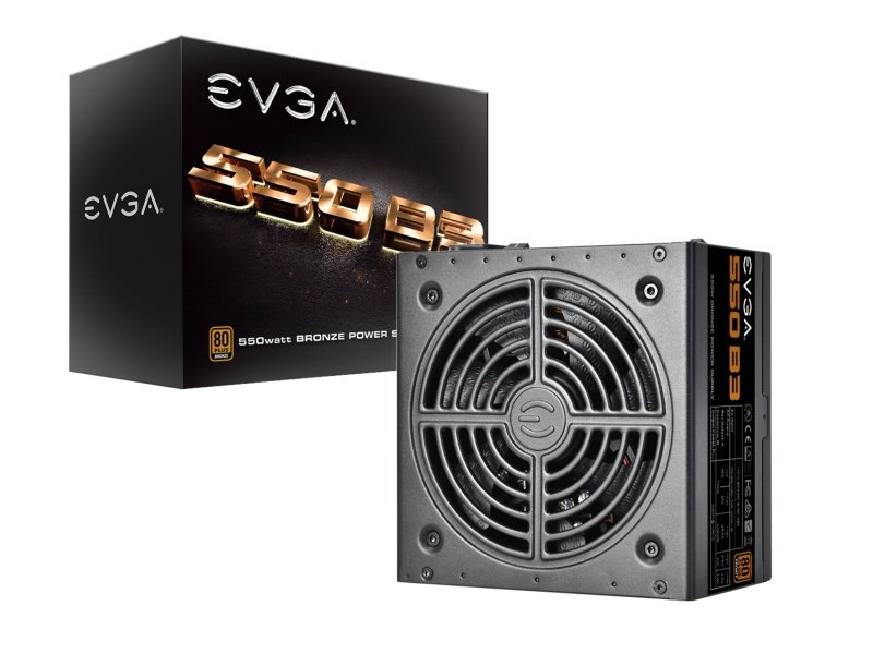 EVGA 550w B3 PSU 80+ Bronze Fully Modular Power Supply