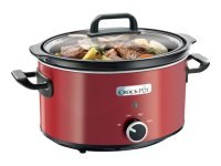 APR17 CROCKPOT 3.5LITRE RED SLOW COOKER