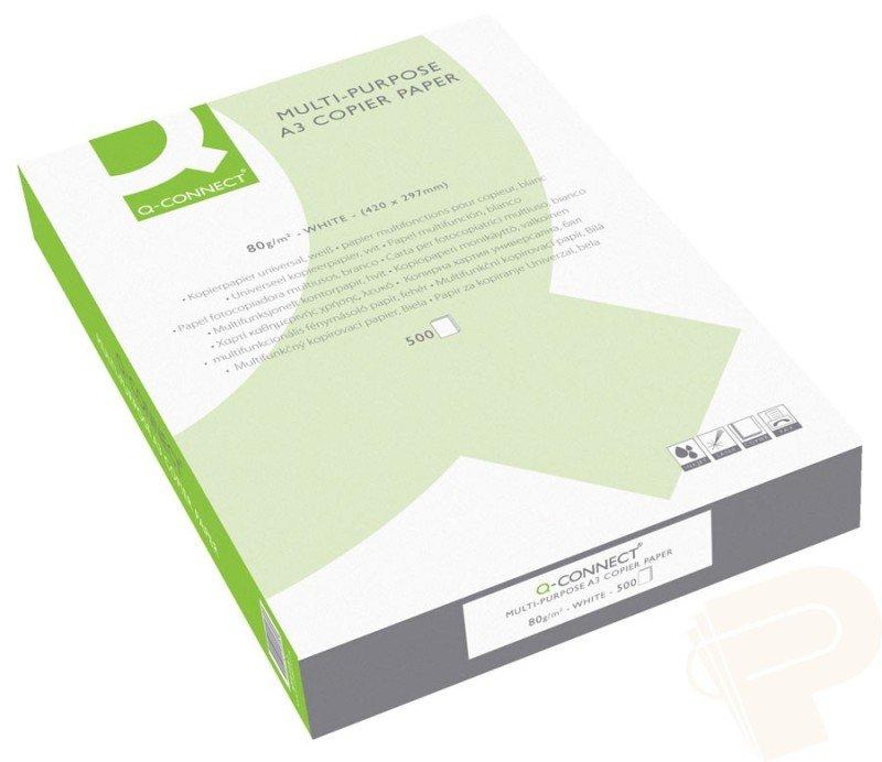 Q-Connect Copier A3 Paper 80gsm White - 500 Sheets