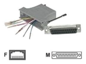 C2G, RJ45 10-Pin/DB2Modular Adapter Grey