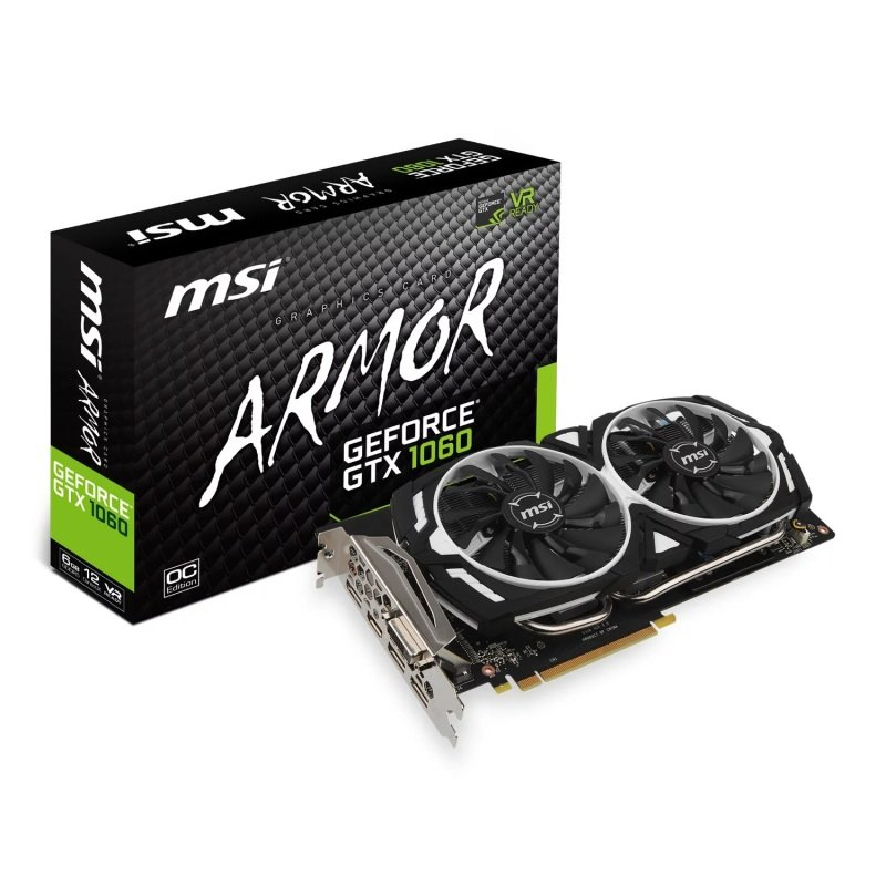 MSI GeForce GTX 1060 6GB ARMOR OC Graphics Card