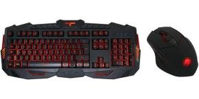 Game Max - Illuminated Gaming Keyboard & Mouse 3 Colour LED