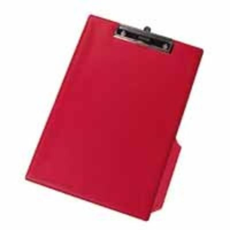 Q CONNECT PVC CLIPBOARD SINGLE RED