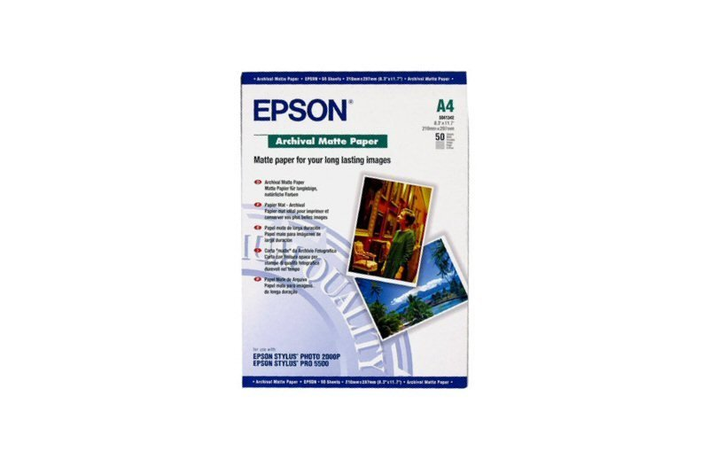 Epson Archival Matte Paper A4 192gsm 50 Sheets
