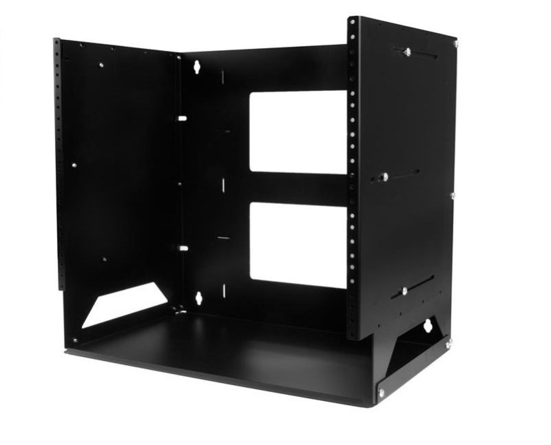 Wall-Mount Server Rack with Built-in Shelf Solid Steel 8U