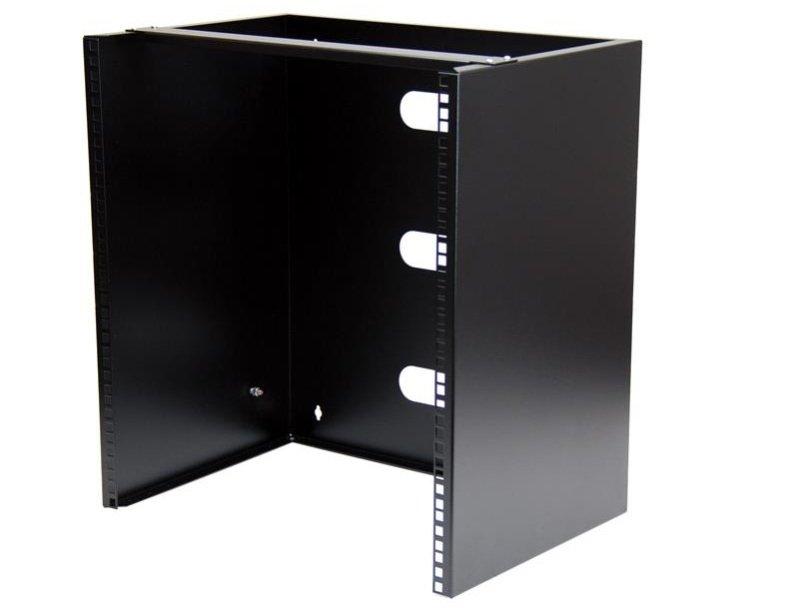 Wall-Mount Bracket for Shallow Rack-Mount Equipment Solid Steel 12U