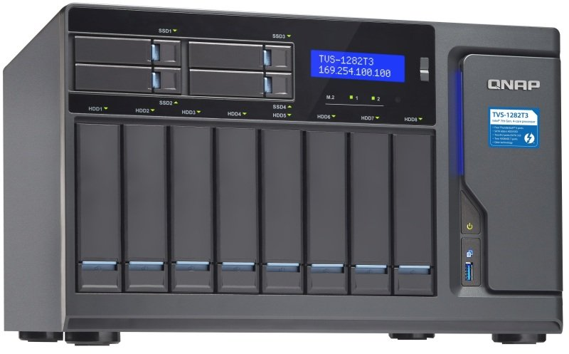 QNAP TVS-1282T3-I5-16G 12 Bay Desktop NAS + 16GB