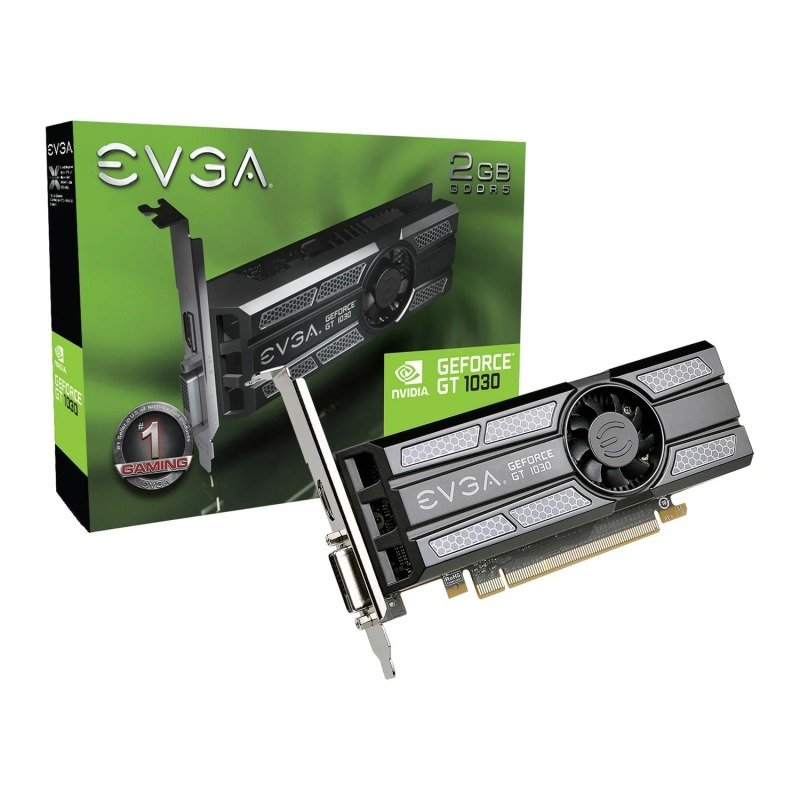 EVGA GeForce GT 1030 2GB SC Low Profile Graphics Card
