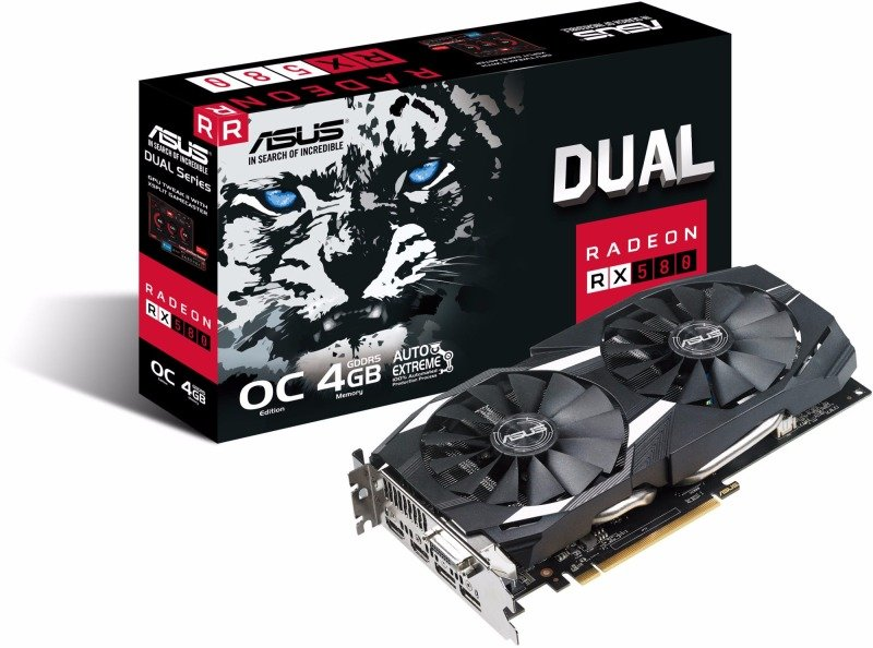 Asus AMD Radeon RX 580 Dual 4GB Graphics Card