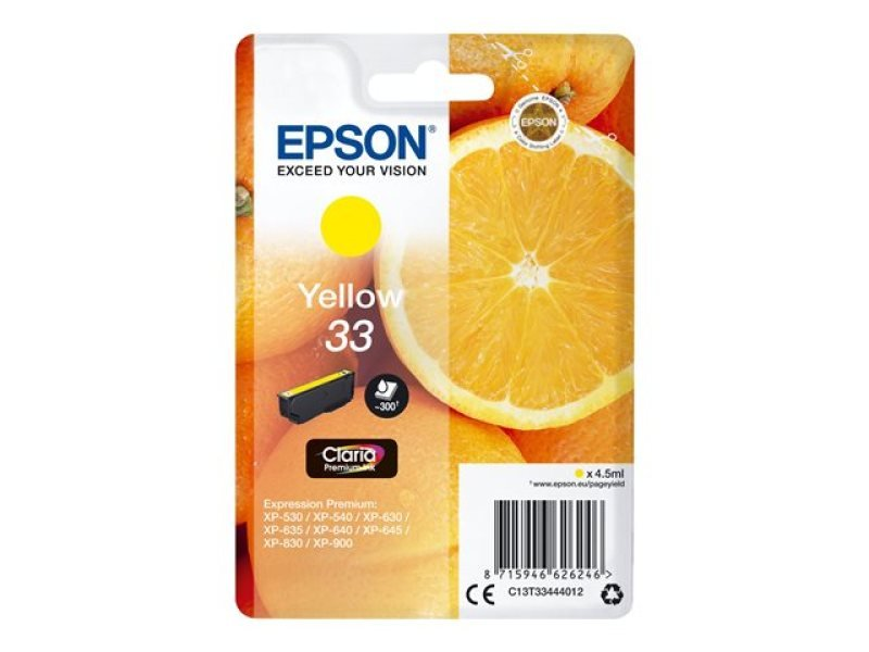 Epson 33 Yellow Inkjet Cartridge