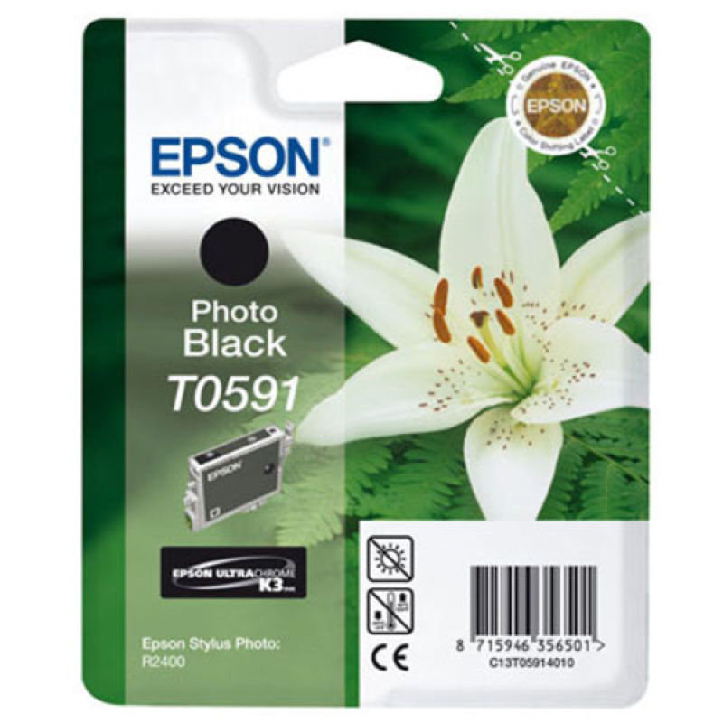 Epson T0591 Photo Black Ink Cartridge
