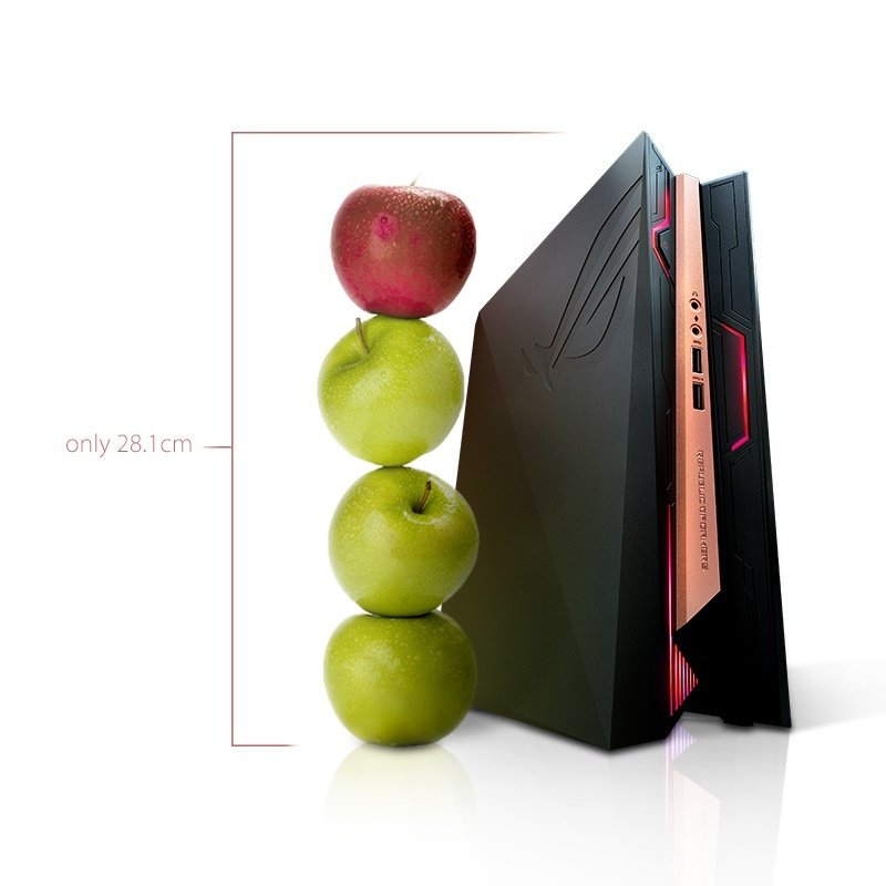 Image of ASUS ROG GR8 II-T017Z Gaming PC, Intel Core i5-7400 3.0GHz, 8GB RAM, 1TB HDD, No-DVD, NVIDIA GTX1060 3GB, WIFI, Bluetooth, Windows 10 Home