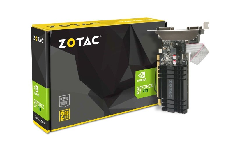 EXDISPLAY Zotac GeForce GT 710 2GB DDR3 VGA Dual-Link DVI HDMI PCI-E Graphics Card