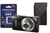 Canon Ixus 185 Camera Kit Inc 16gb Sd Card And Case - Black