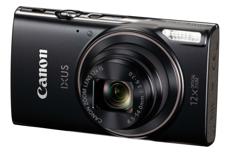 Canon IXUS 285 HS Camera Black 20.2MP 12x Zoom FHD 25mm Wide WiFi