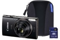 Canon Ixus 285 Hs Black Camera Kit Inc 16gb Sd Card And Case