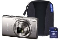 Canon IXUS 285 HS Silver Camera Kit inc 16GB SD Card and Case
