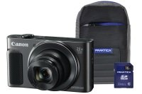 Canon PowerShot SX620 HS Black Camera Kit in 16GB SDHC Class 10 Card & Case