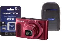 Canon Powershot Sx620 Hs Red Camera Kit In 16gb Sdhc Class 10 Card & Case