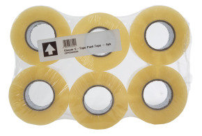 Ebuyer E-Tape 48mm x 150m Packaging Tape - 6 Pack