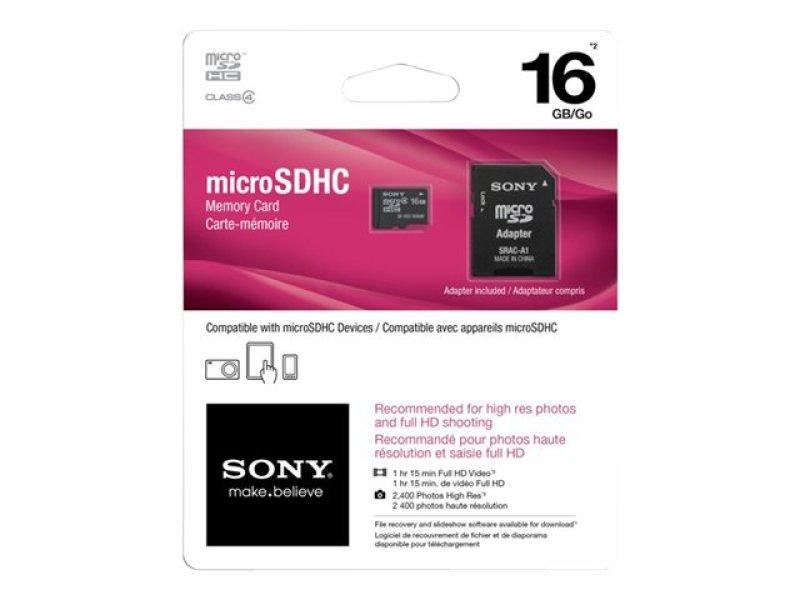 Sony 16GB microSDHC Memory Card