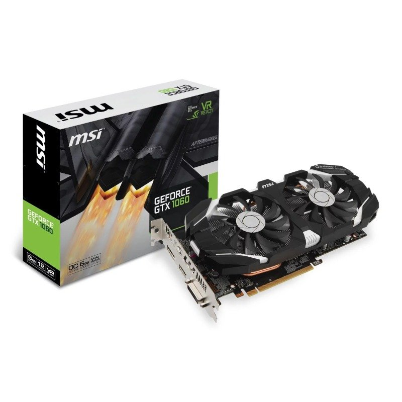 EXDISPLAY MSI NVIDIA GeForce GTX 1060 6GB GDDR5 OC V1 Graphics Card