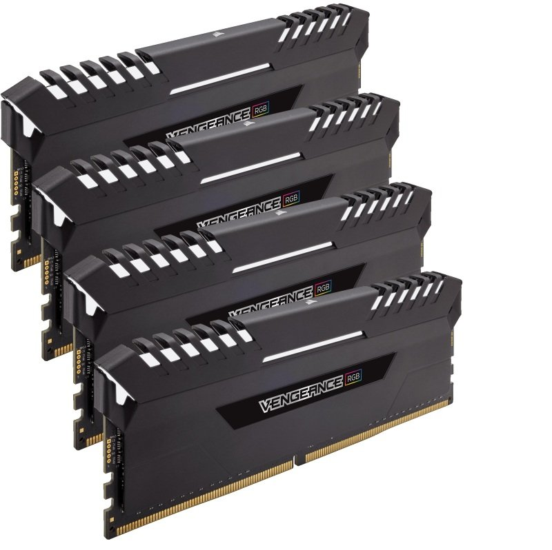 Corsair Vengeance RGB LED 32GB 4x8GB DDR4 2666MHz Memory Kit