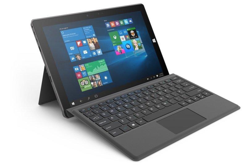 """Linx 12V64 12.2"""" 64GB Tablet w/ Keyboard - Silver"""