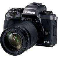 Canon Eos M5 Black Csc Camera Black + Ef-m 18-150mm Lens