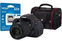 Canon EOS 700D Black SLR Kit inc 18-55mm IS STM Lens  32GB SD Card & Case