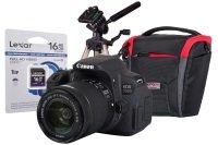 Canon EOS 700D Black SLR IS Kit inc 18-55mm, 16GB SD, Desktop Tripod, Case