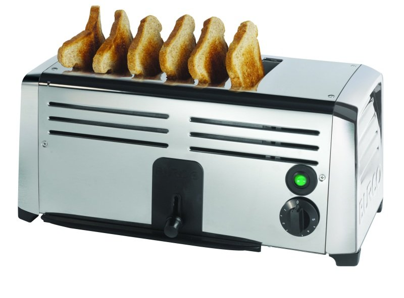 Image of 6 SLOT STAINLESS STEEL COMMERCIAL TOASTER